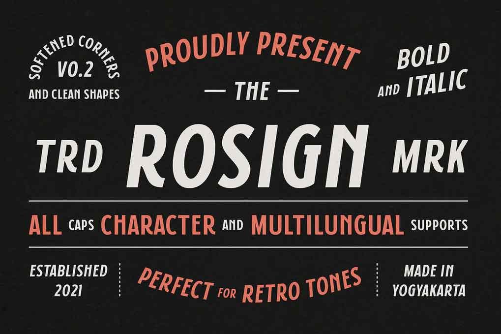 Rosign Font