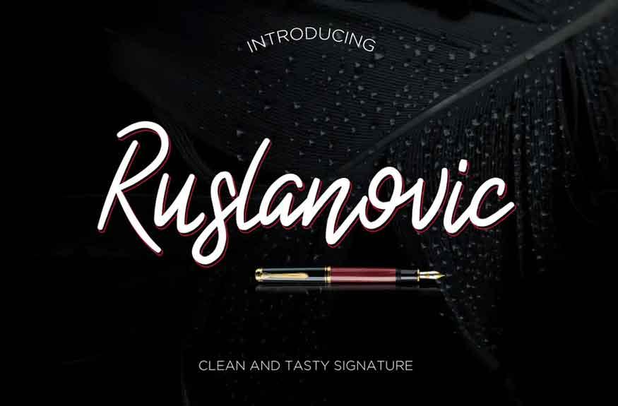 Ruslanovic Font