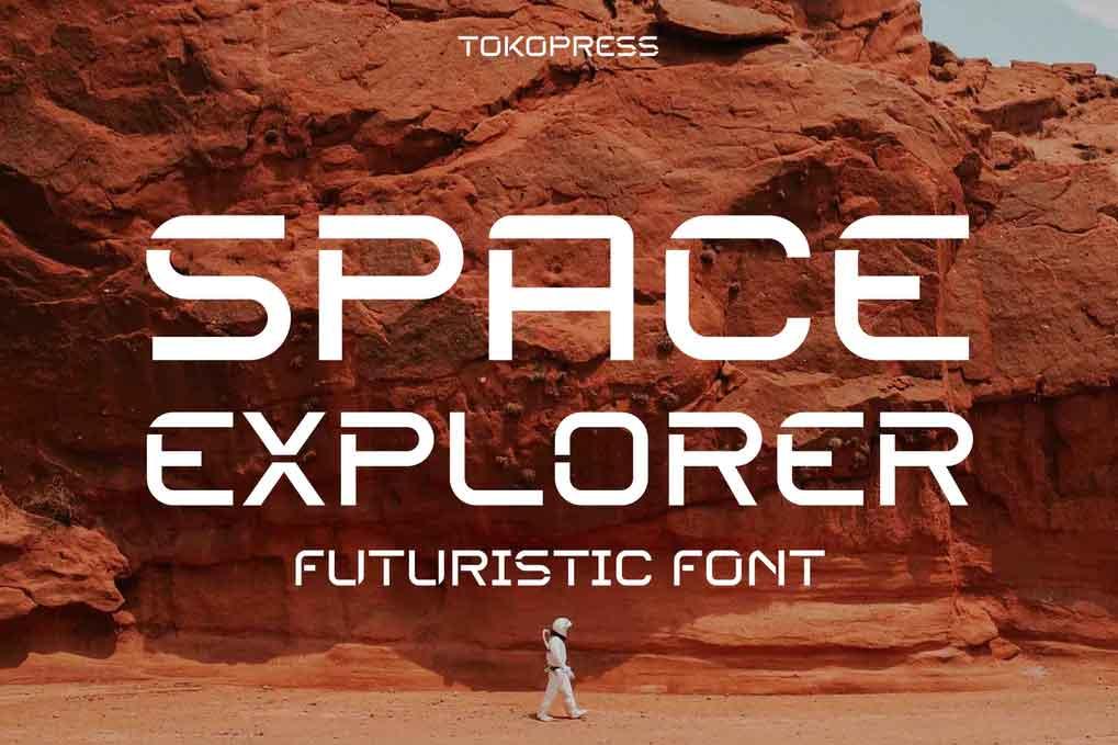 SPACE EXPLORER Futuristic Font