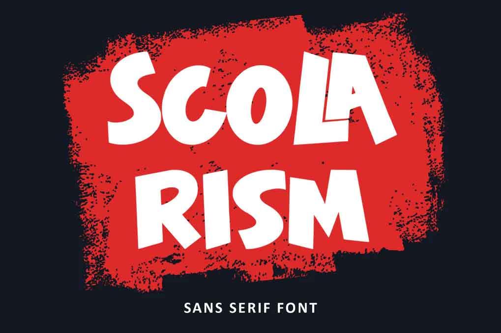 Scolarism Font