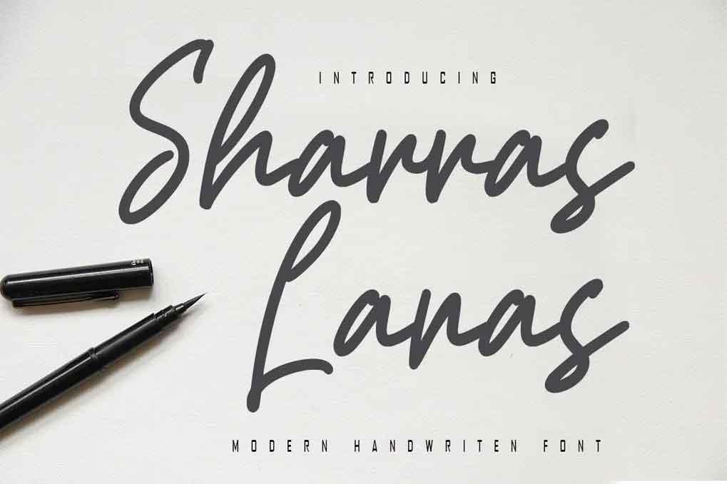 Sharras Lanas Font