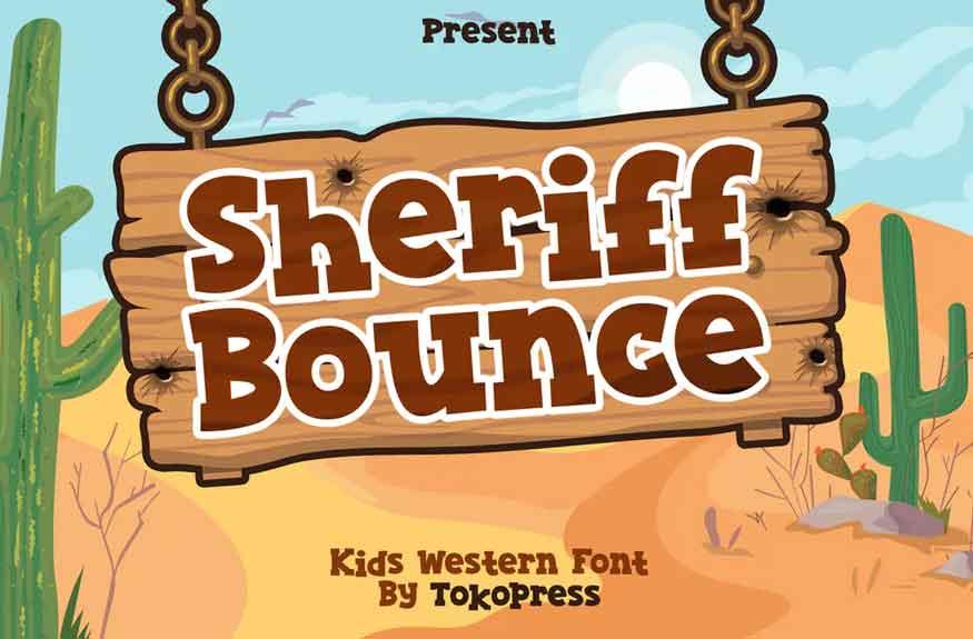Sheriff Bounce Font