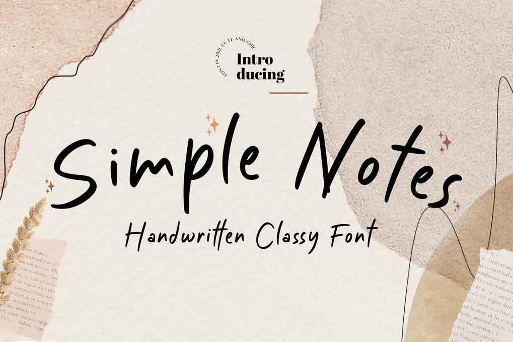Simple Notes Instagram Font