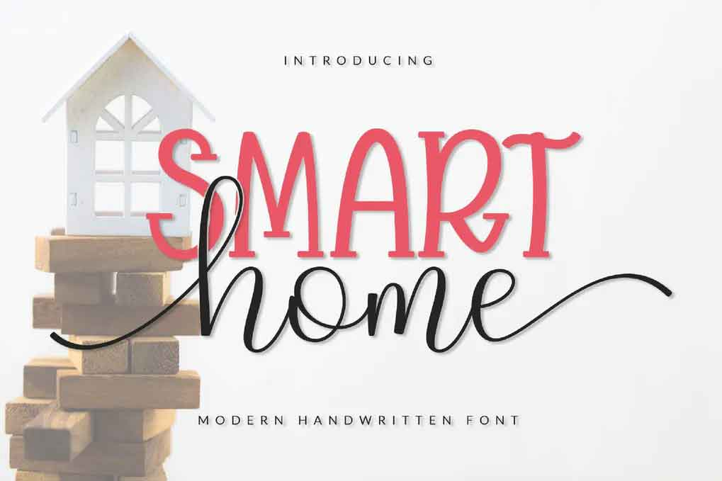 Smart Home Font