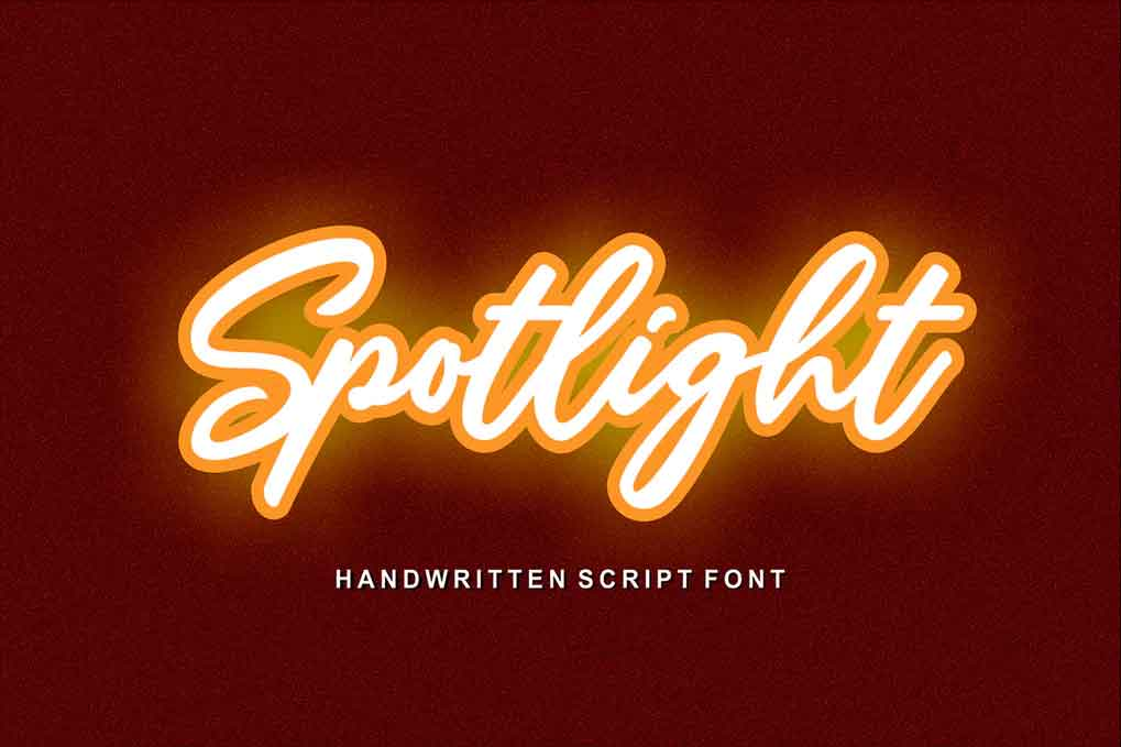 Spotlight Handwriting Font