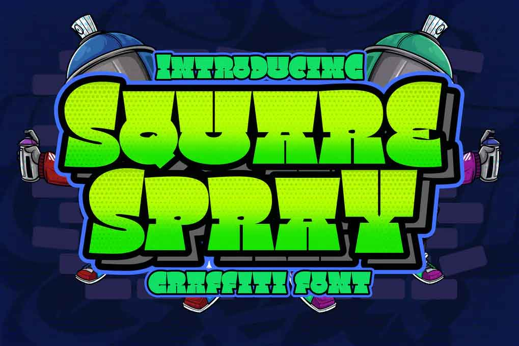 Square Spray Graffiti Font
