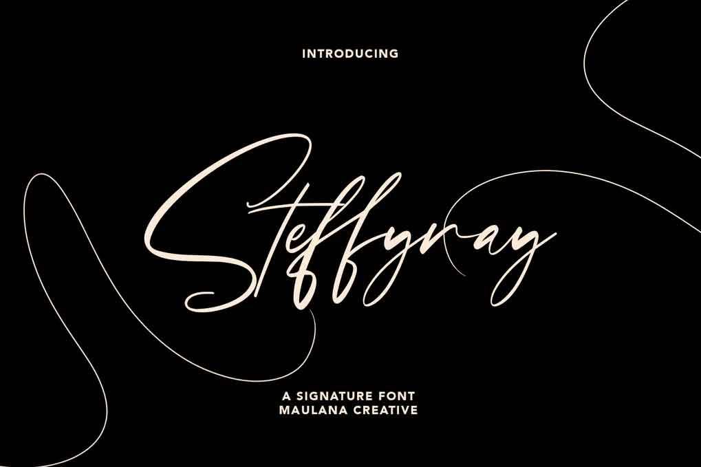 Steffyray Signature Font