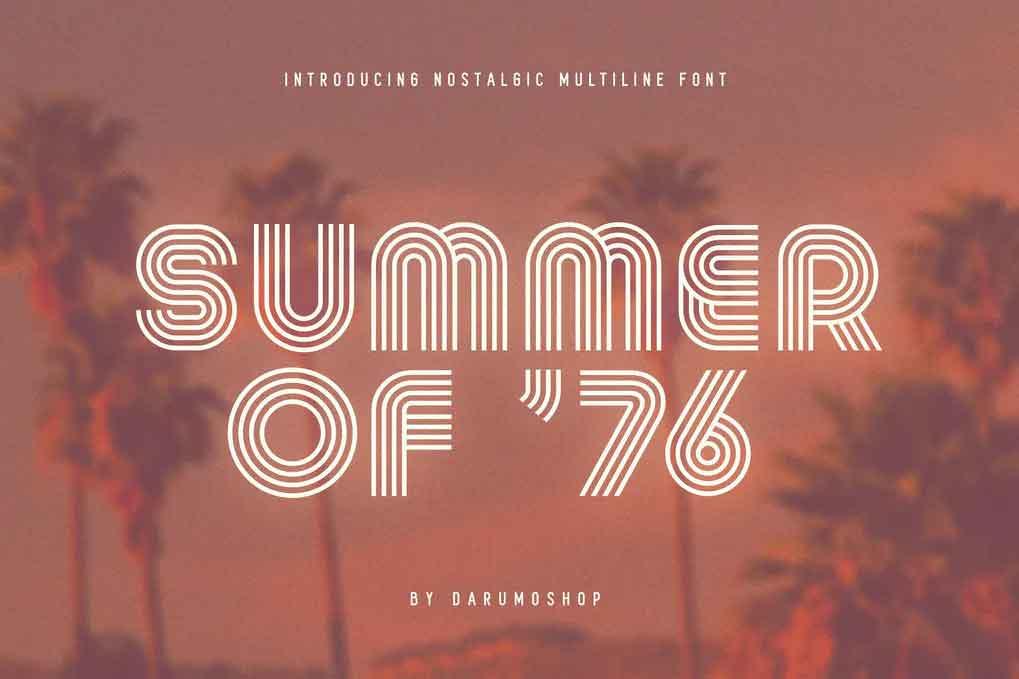 Summer Of 76 Font