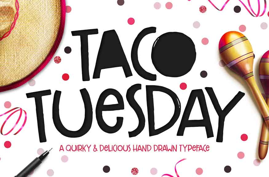 Taco Tuesday Font