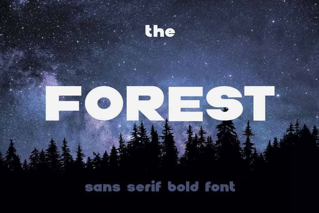 The Forest Font