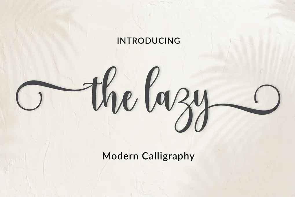 The Lazy Font