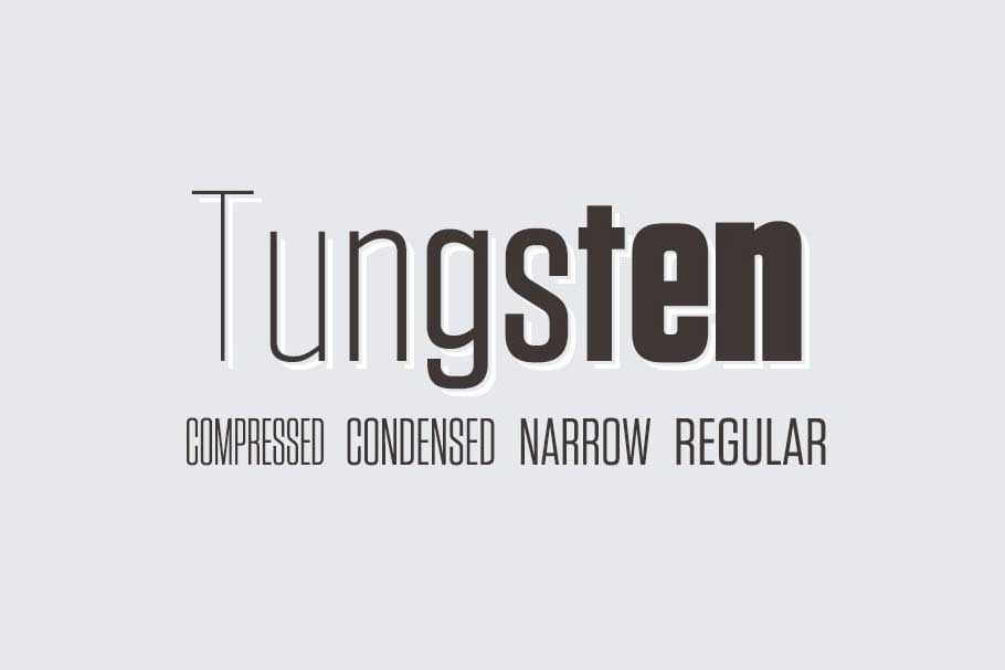 Tungsten Font Family