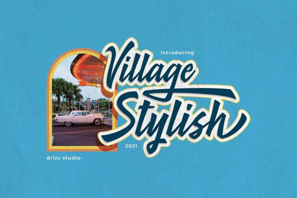 Village Stylish Font