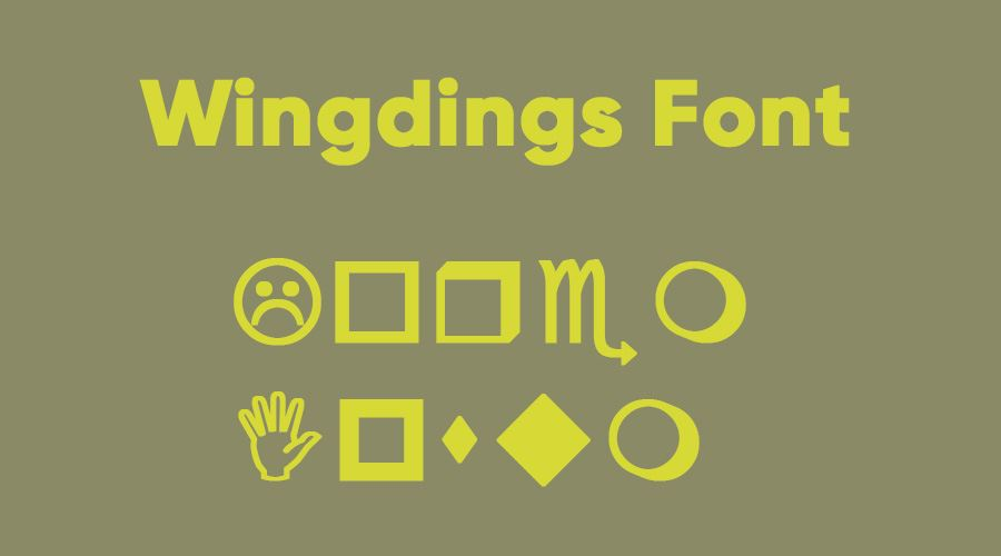 Wingdings Font