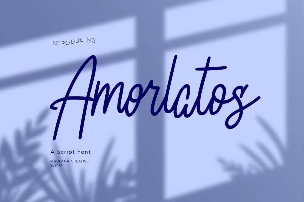 Amorlatos Script Font