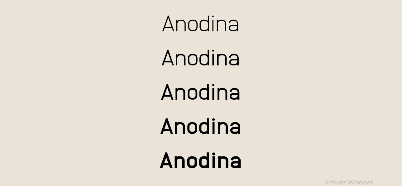 Anodina Font