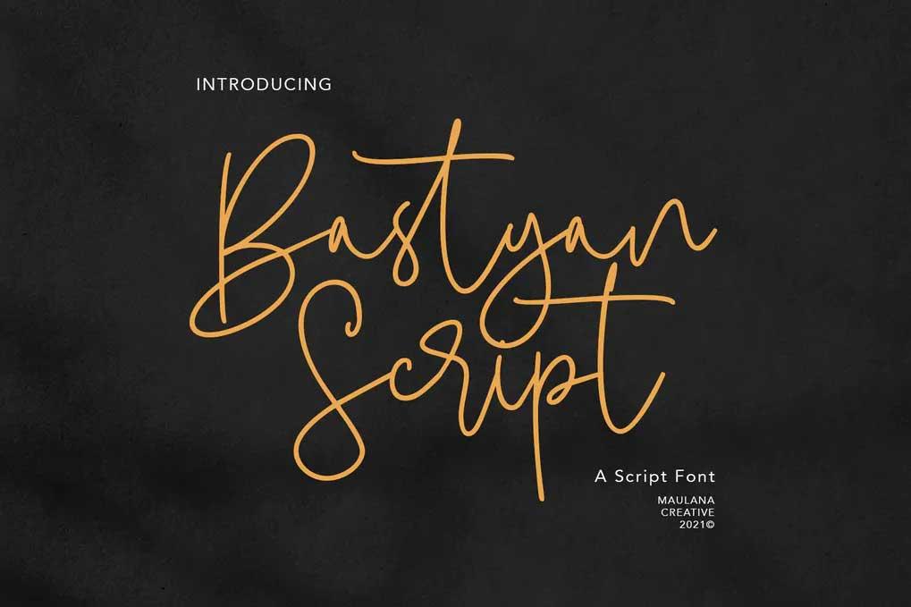 Bastyan Script Font