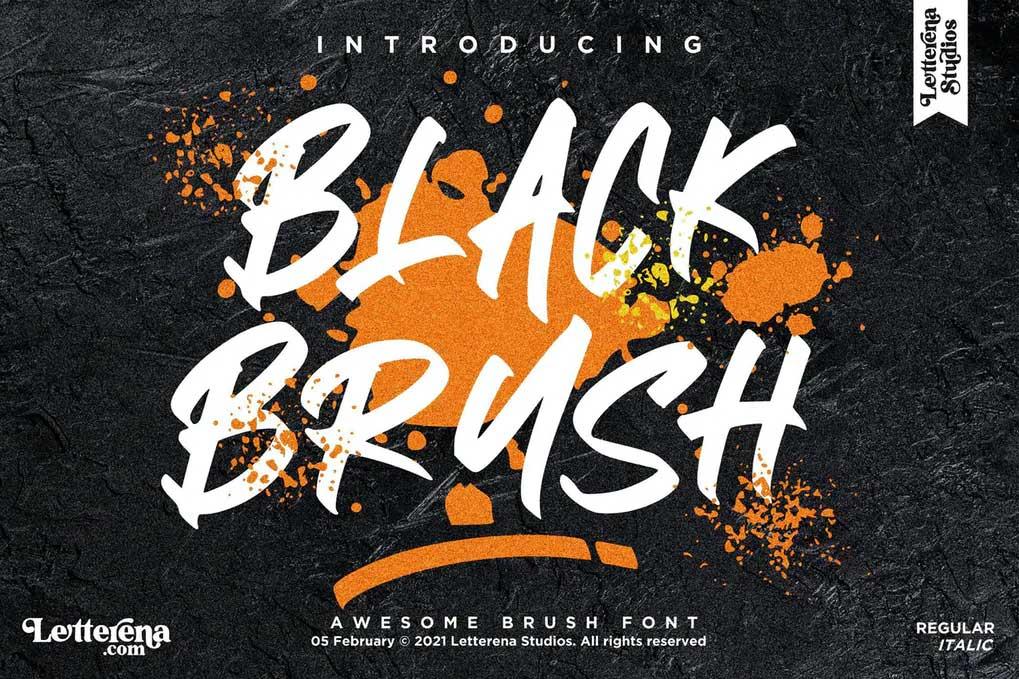 Black Brush Font