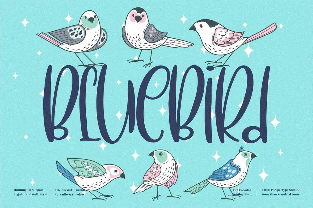 BlueBird Font