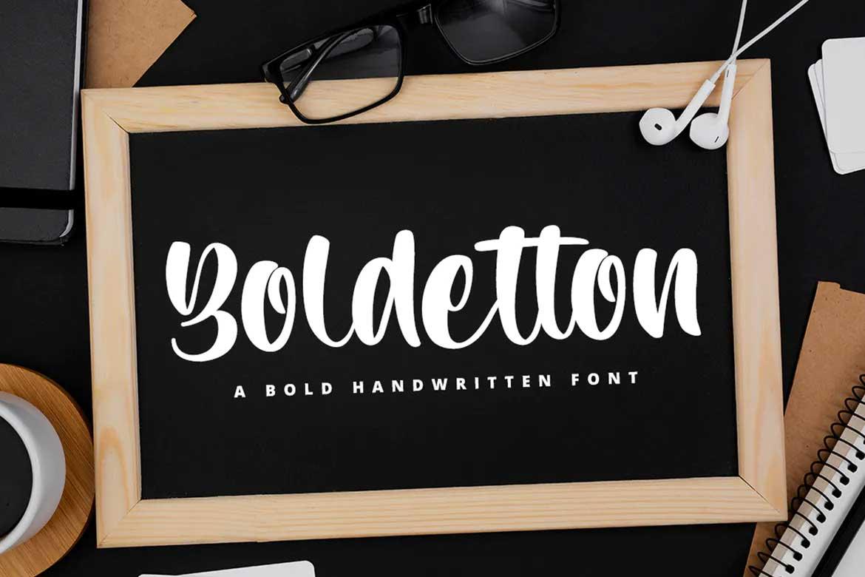 Boldetton Font