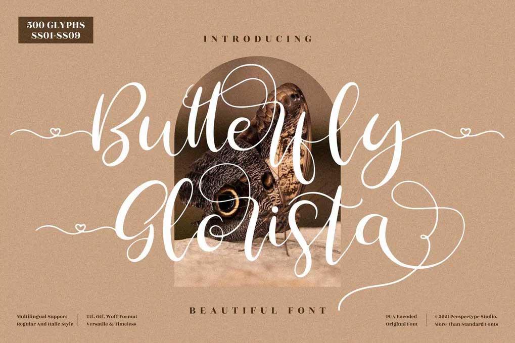 Butterfly Glorista Font