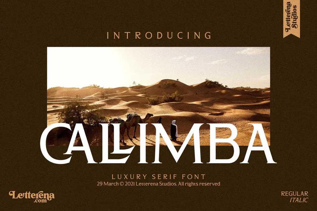 Callimba Font