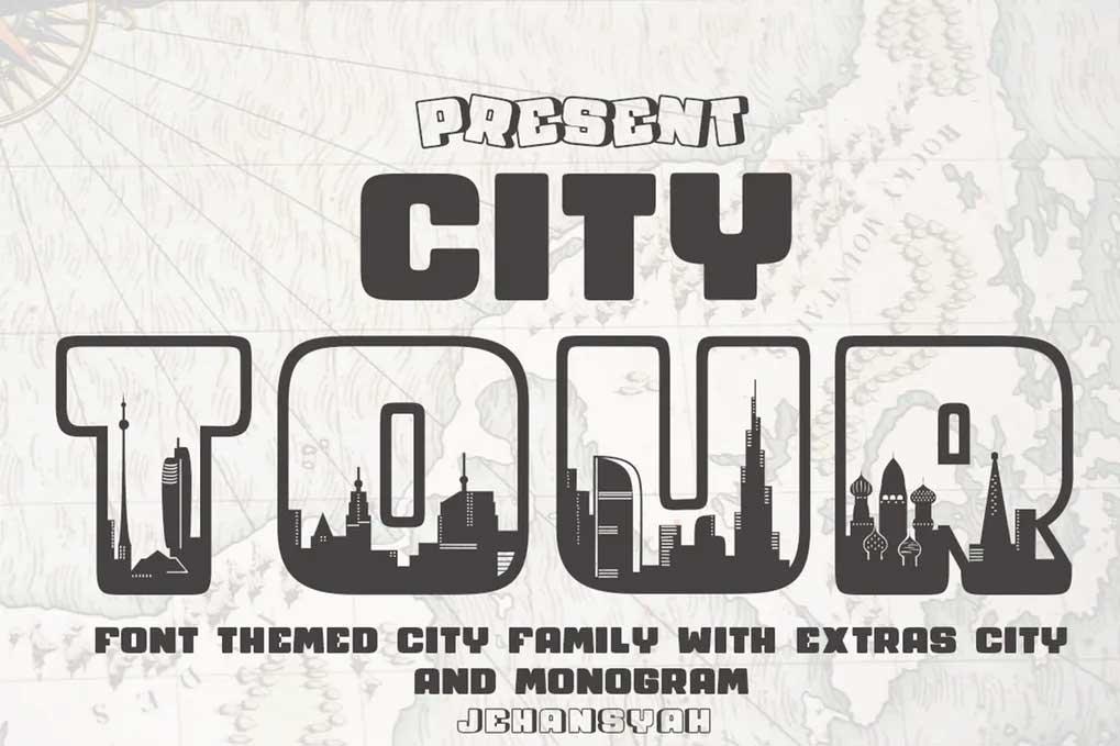 City Tour Font