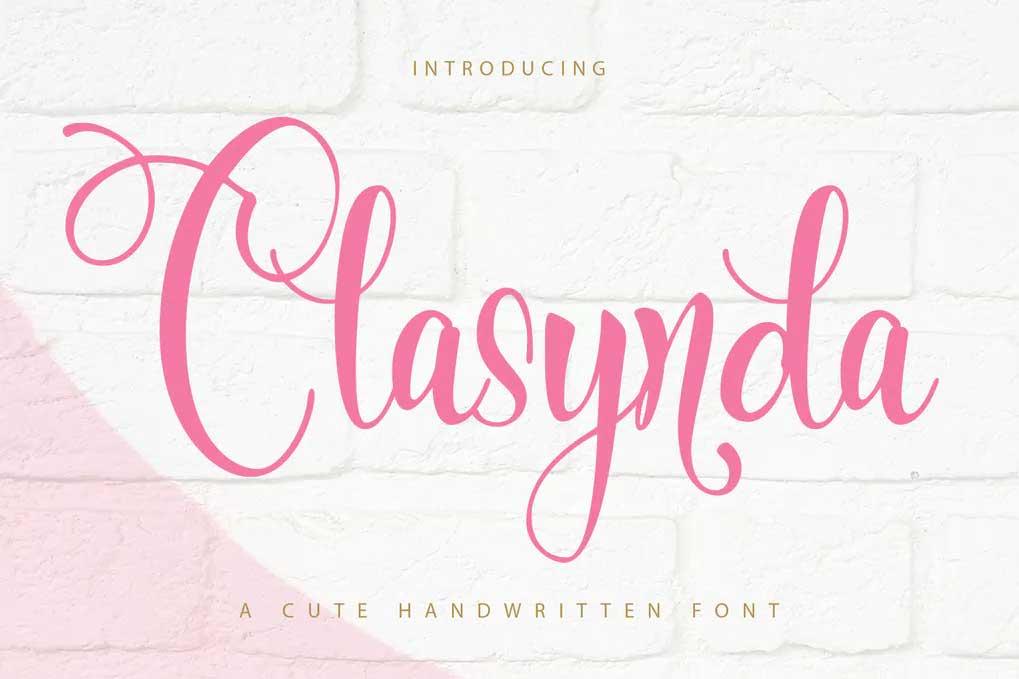 Clasynda Font