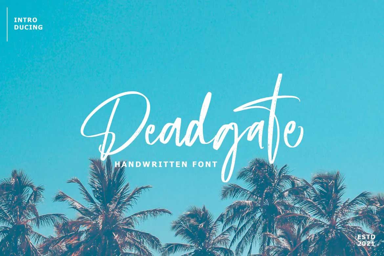 Deadgate Font