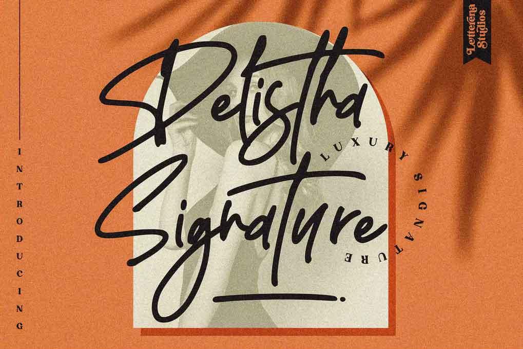 Delistha Signature Font