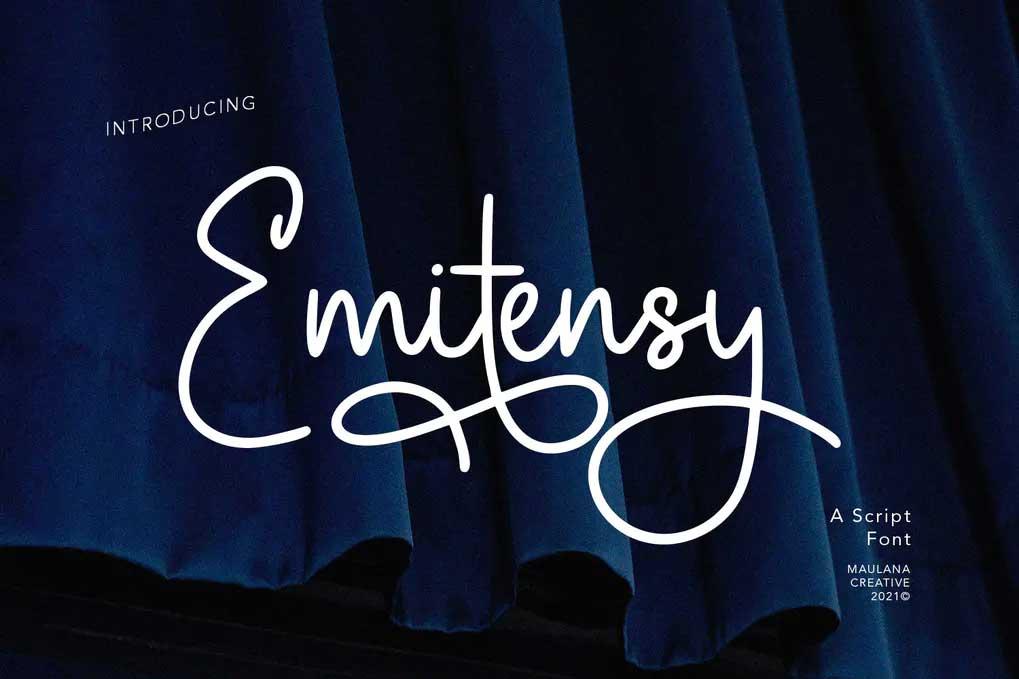 Emitensy Script Font