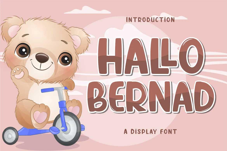 Hallo Bernad Font