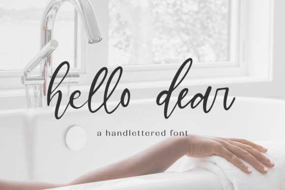 Hello Dear Font