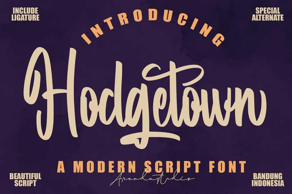 Hodgetown Font