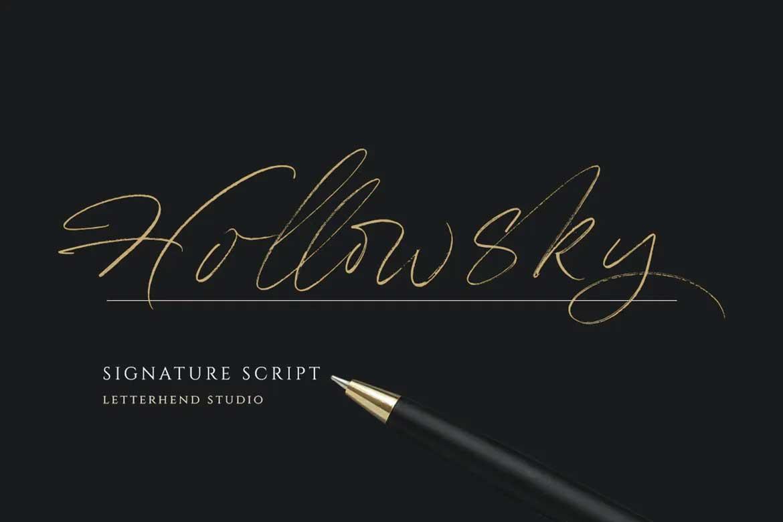 Hollowsky Font