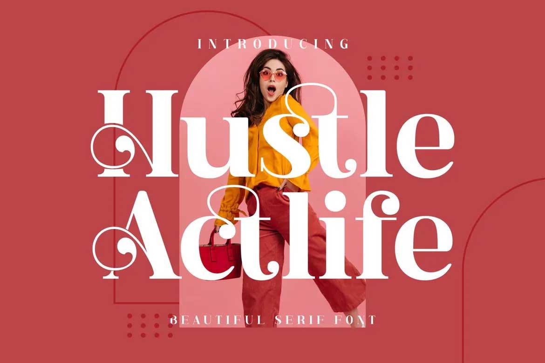 Hustle Actlife Font