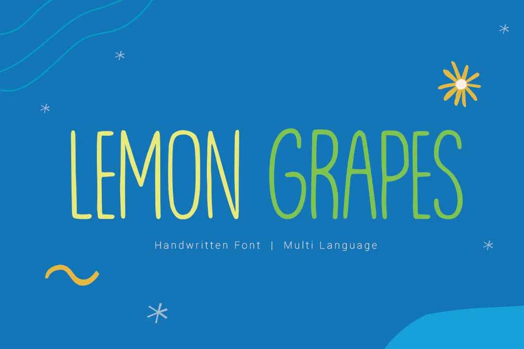Lemon Grapes Font