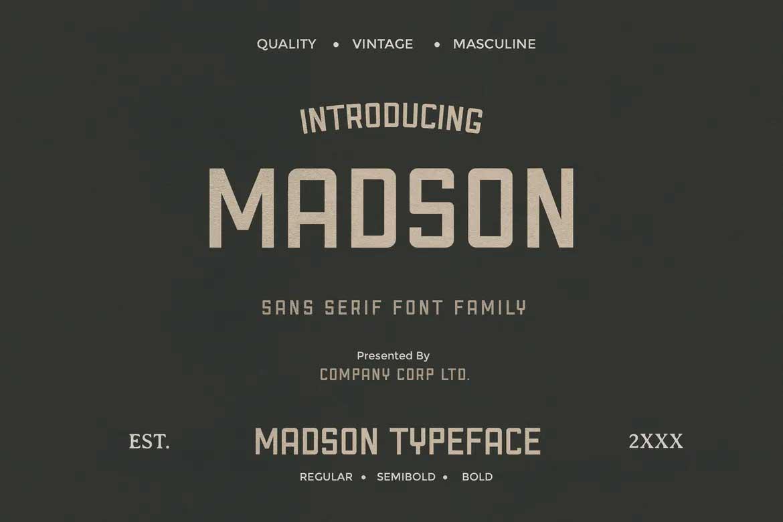 Madson Font
