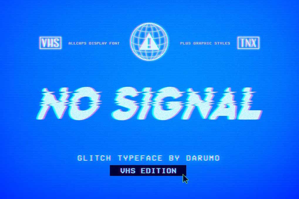 No Signal Font