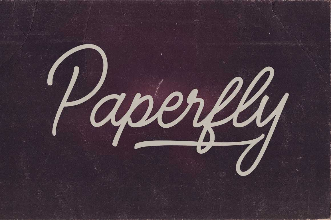 Paperfly Font