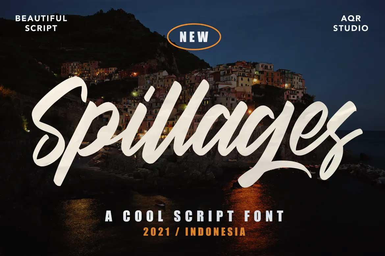 Spillages Font