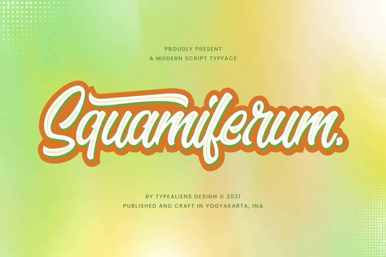 Squamiferum Font