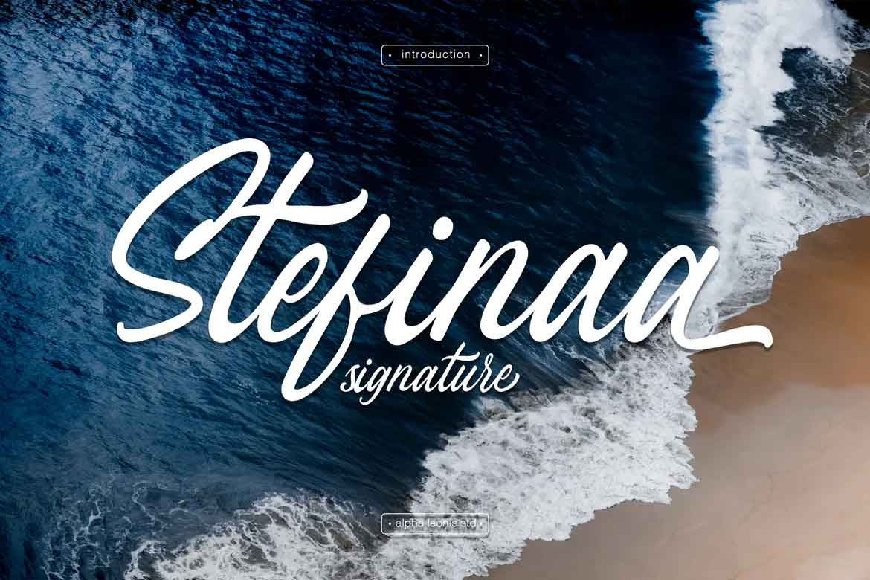 Stefina Signature Font
