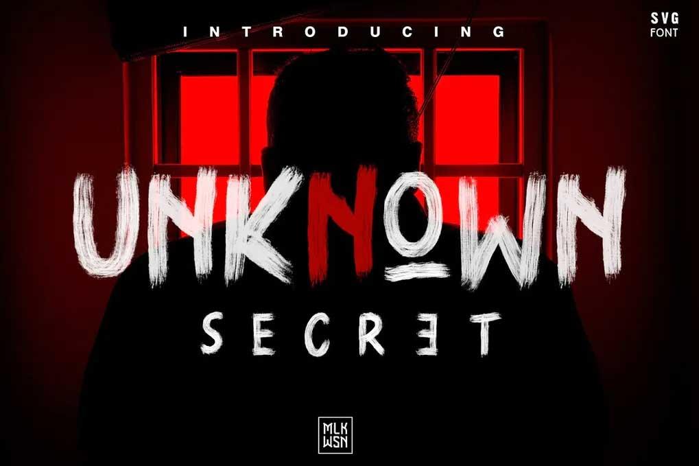 Unknown Secret Font