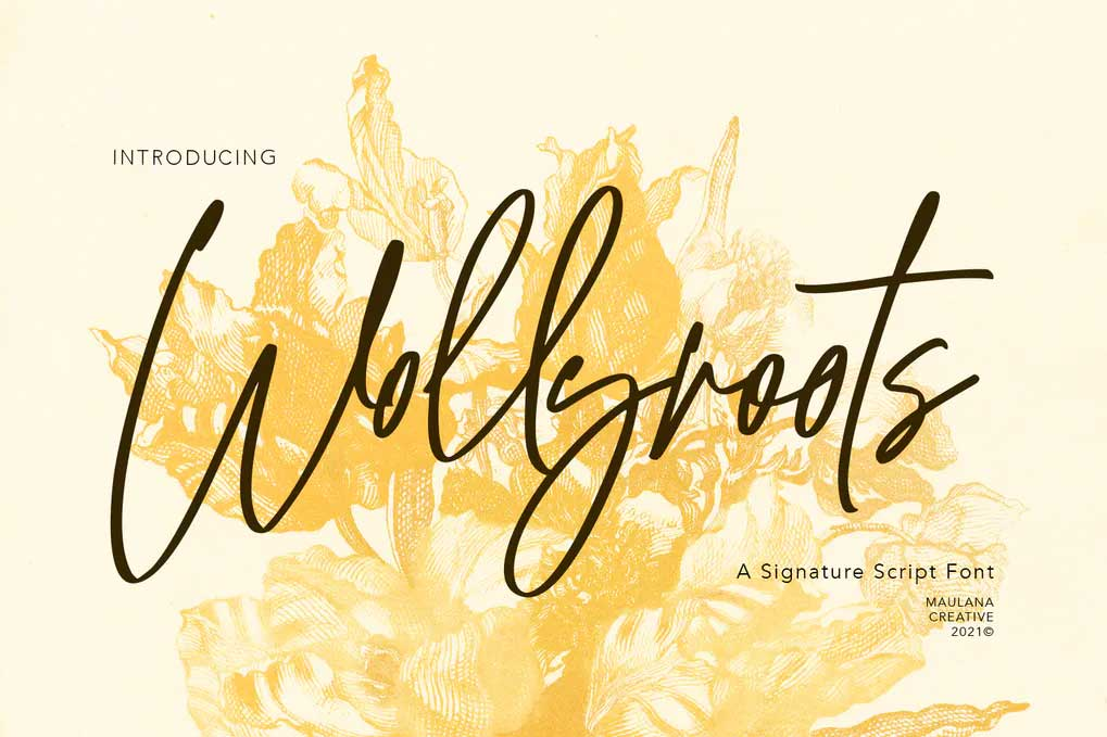 Wollyroots Font