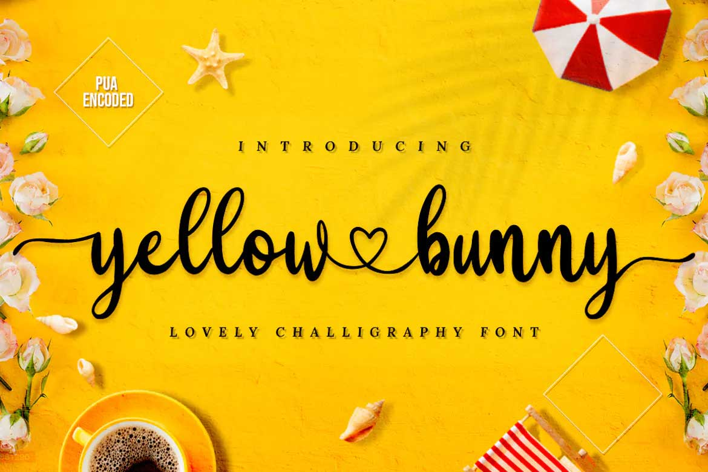 Yellow Bunny Font