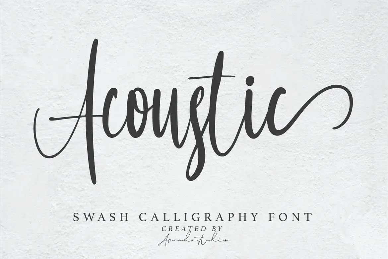 Acoustic Font