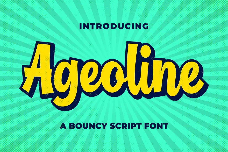 Ageoline Font