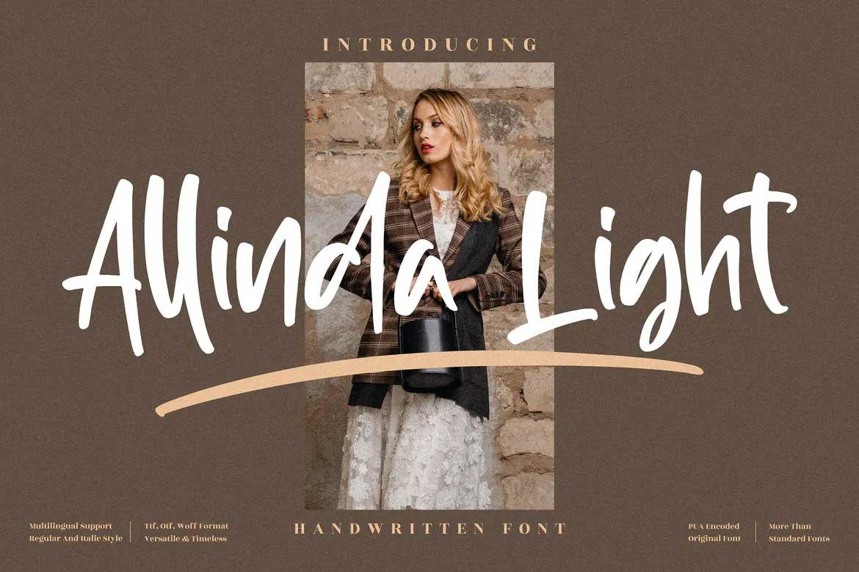 Allinda Light Font