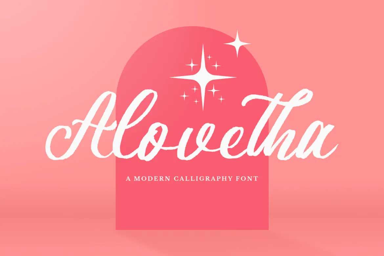 Alovetha Font